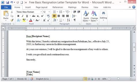 letter of resignation template microsoft essay writings in english
