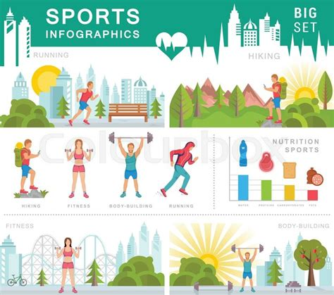 sports infographics templates sport infographic banners and elements with running