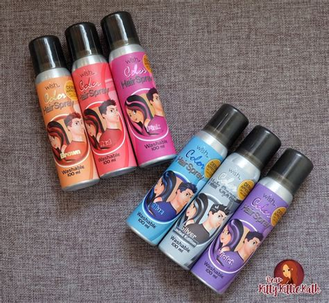 Review Cibu Ph Finish Hair Spray by Product Review Wish Color Hair Spray Dear Kittie