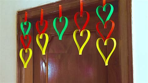 Home Decorating Ideas For Diwali by Paper Heart Door Decor Diy Hanging Decoration For