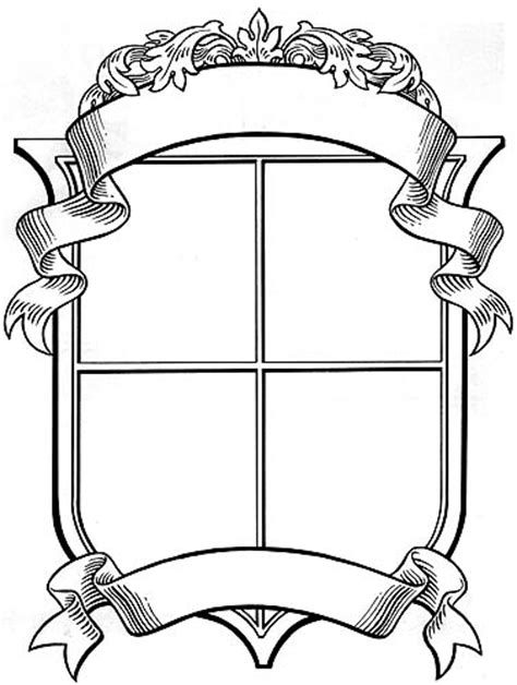 Printable Coat Of Arms Clipart Best Crest Design Template