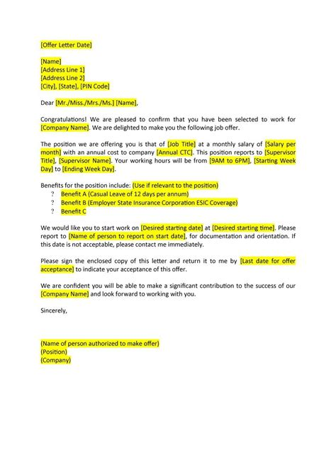 brilliant ideas of how to counter a job offer letter about resume