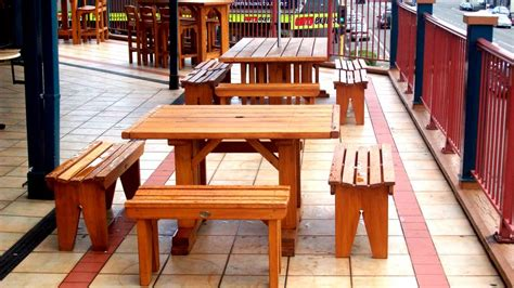 bbq tables outdoor furniture weekend craft macrocarpa wooden outdoor furniture nz