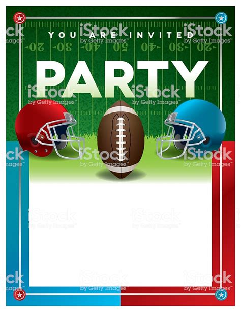 American Football Party Flyer Template Stock Vector Art More Images Of American Culture Tailgate Template