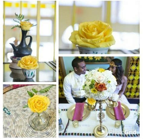 Yellow Wedding Inspiration   Ethiopian Melse Decor by Geli