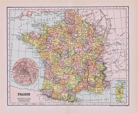 printable maps france antique paris and france map printables knick of time