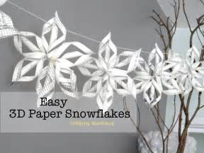 3d snowflake template easy 3d origami paper snowflake tutorial