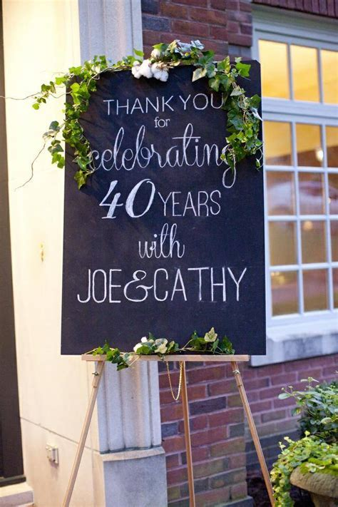 40th Anniversary Ideas for Couples ? Tip Junkie