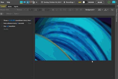 background themes editor how do i change the background of my slides proclaim