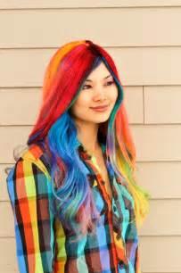 with colored hair rainbow hair strayhair