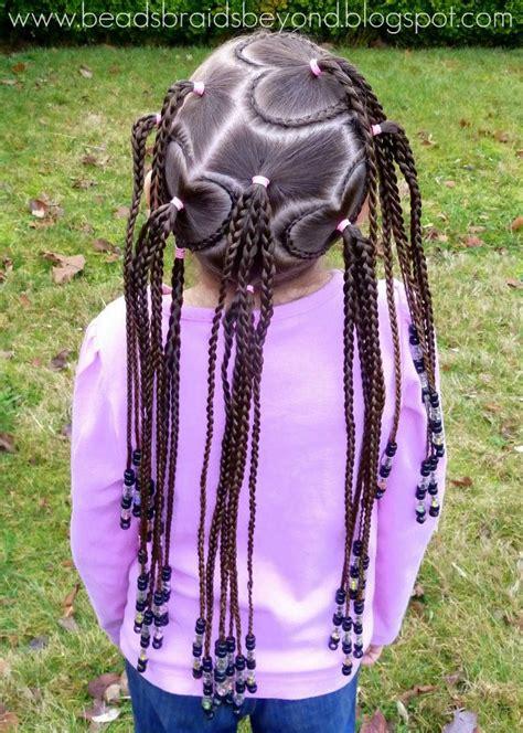 beads braids   valentines day hair lots