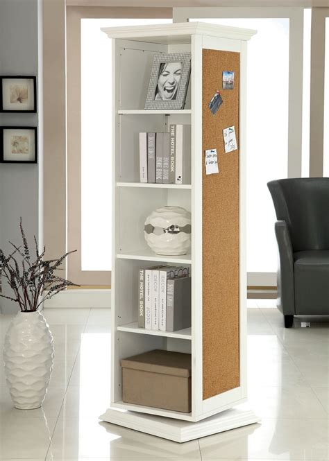 somers white multi functional swivel cabinet