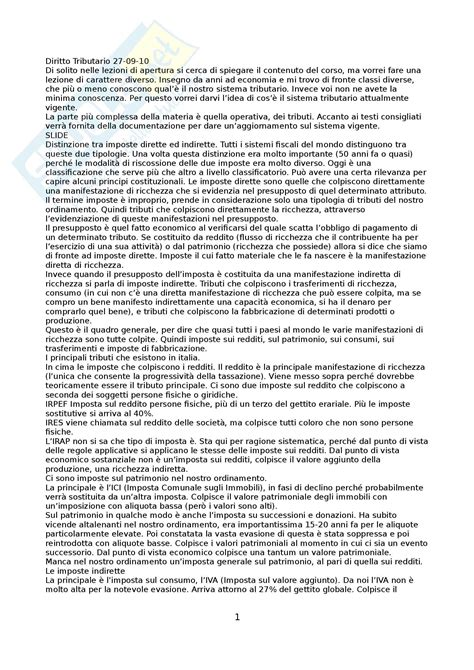 diritto tributario appunti