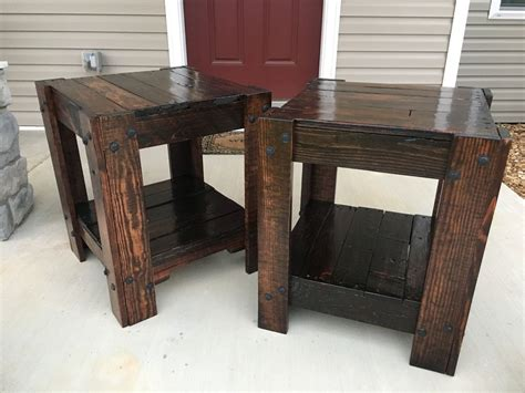 pallet end tables pallet end table 10 steps with pictures