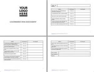 free legionella risk assessment template legionnaires assessment legionnaires risk assessment
