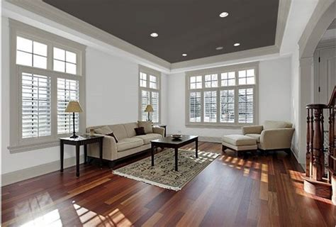 paint colors for living rooms with white trim combine a dark ceiling with grey trim white walls for