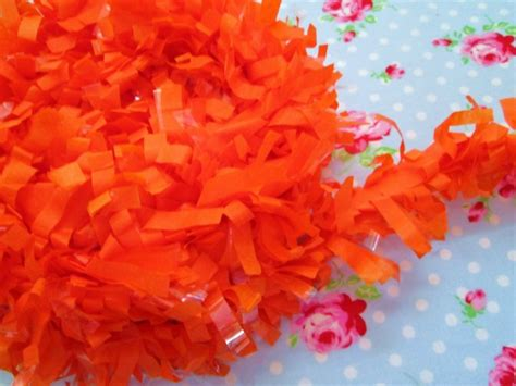 pumpkin orange tissue garland festooning fringe