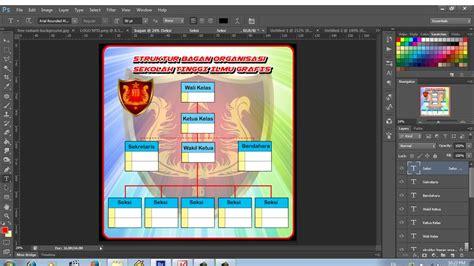membuat struktur organisasi photoshop cara membuat bagan struktur organisasi dengan photoshop
