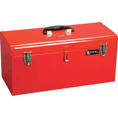 excel portable toolbox with tray model tb140 red tool