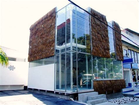 Tiny Homes Interior Designs Partially Quot Furry Quot Glass Cube Uses Tradition Palapa As A
