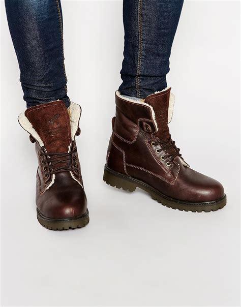 wrangler boots for wrangler aviator boots in brown for lyst