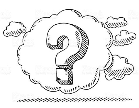 illustrator draw question mark question mark in thought bubble drawing stock vector art