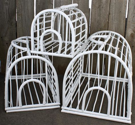 set 3 large decorative wicker bird cages birds