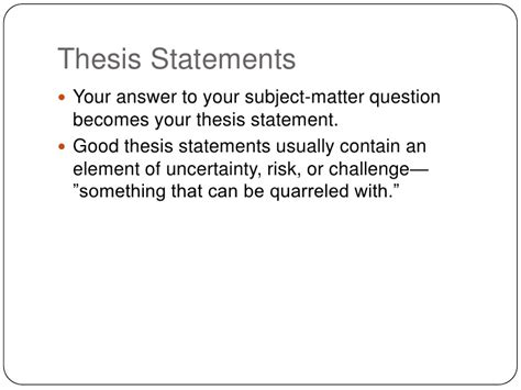 Resume Examples For Objective by Thesis Statements
