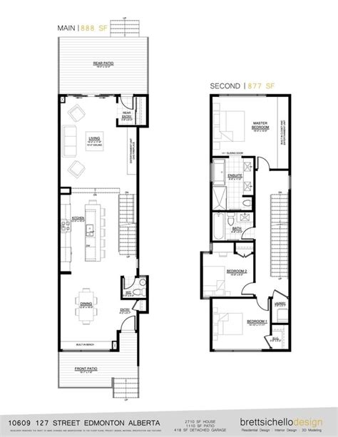 infill house design edmonton plans house