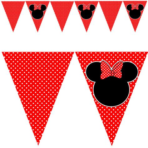 printable minnie birthday banner red minnie mouse birthday free download clipart best