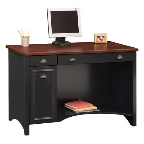 bush stanford collection computer desk antique black and