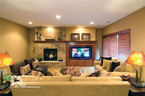 from the basement tv basement tv fireplace traditional family room