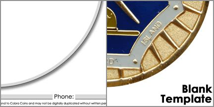 Design Your Challege Coins Powerpoint Challenge Coin Template