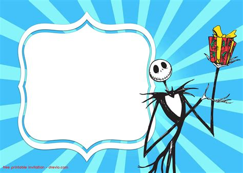 skellington template free printable skellington invitation templates