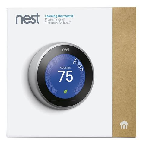 Shop Nest Learning Thermostat with Built In Wifi at Lowes.com   Connected Home FINDS   Pinterest
