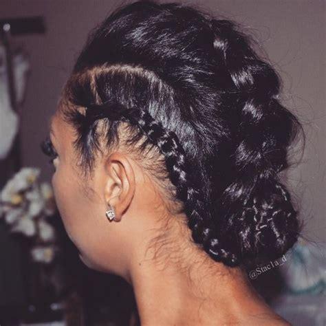 black french braid bun african braids hairstyles pretty braid styles for black women