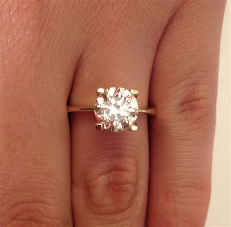 yellow gold solitaire engagement rings and elegance