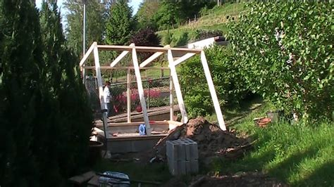 building an a frame house building a green house wood frame youtube