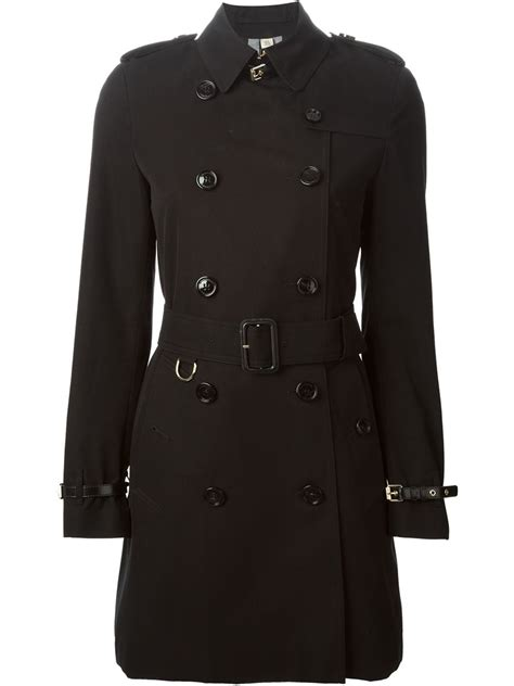 Drape Ties Burberry London Belted Trench Coat In Black Lyst