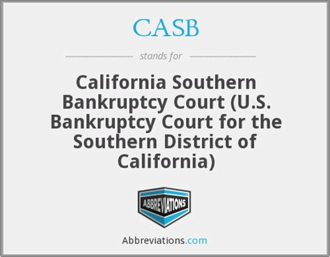 California Southern District Court Search Casb California Southern Bankruptcy Court U S Bankruptcy Court For The Southern