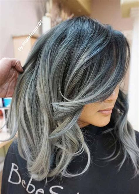 hair color for grey hair best 25 blue grey hair ideas on silver blue
