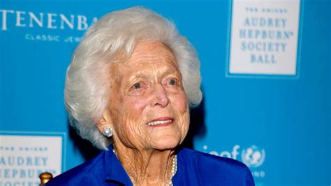 Barbara Bush Gets Robbed by Barbara Bush In Failing Health Won T Seek Further Treatment
