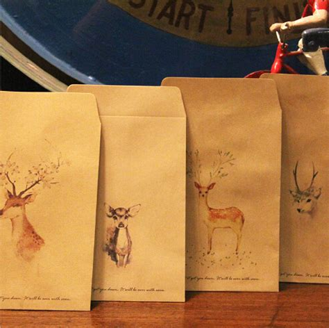 aliexpress buy free shipping 12 pcs lot aliexpress buy 12 pcs lot deer paper envelope 4