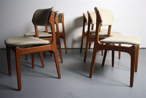 Set Of 6 Dining Chairs Set Of 6 Teak Dining Chairs By Erik Buck For O D M 248 Bler Abt Modern