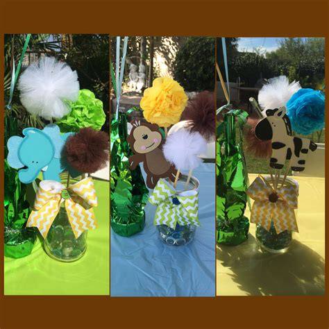 Safari Jungle Baby Shower Decorations by Safari Centerpieces Jars Jungle Theme Baby Shower