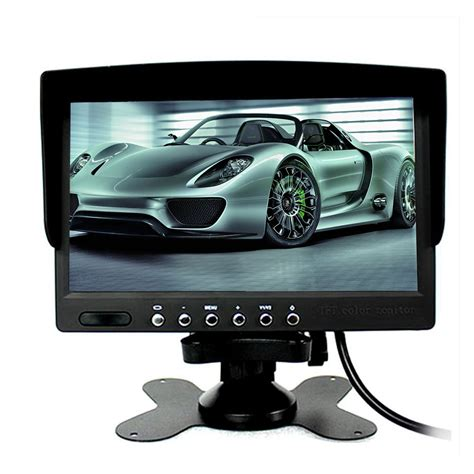 Monitor Lcd 7 Inch eincar 7 inch tft lcd monitor color 2 input car rearview touch screen monitor dvd