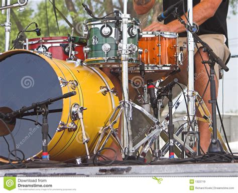 Drum Animal Concert drums at outdoor concert royalty free stock images image