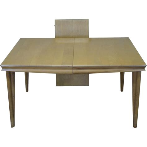Maple Dining Tables Heywood Wakefield Chagne Mid Century Solid Maple Dining Table From Bucks County Estate