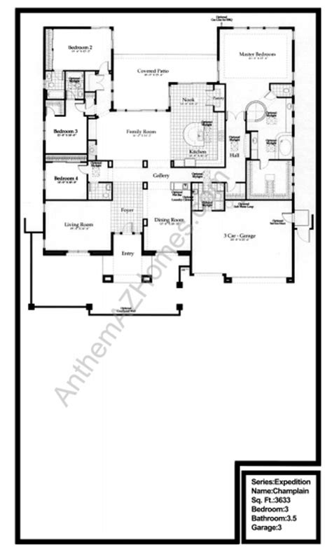 country club floor plans anthem country club floor plans