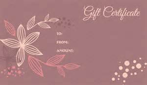 Pedicure Gift Certificate Template by Flora Gift Certificate Template Get Certificate Templates